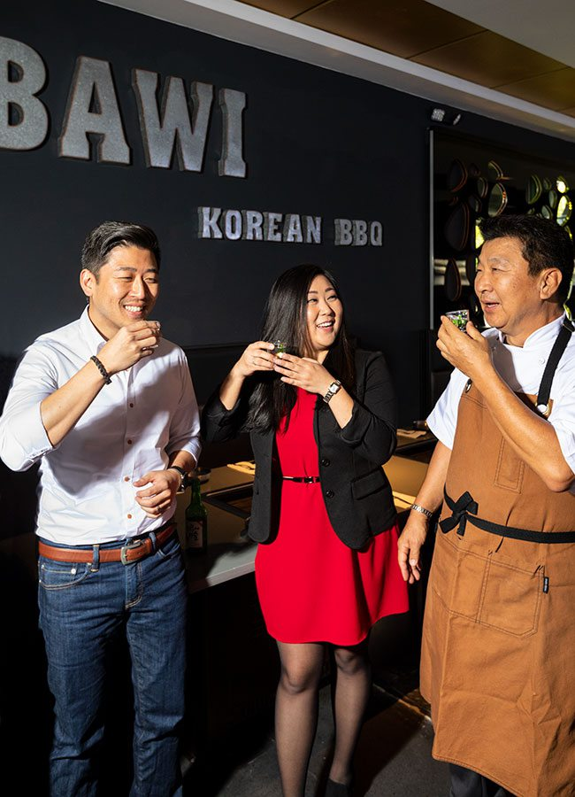 Kwon family, owners of Bawi Korean BBQ Springfield MO