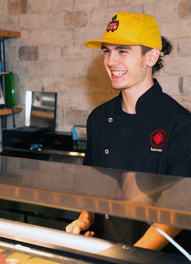 Sushi Chef Gaven Rehkop at Karai Ramen + Handroll Springfield MO