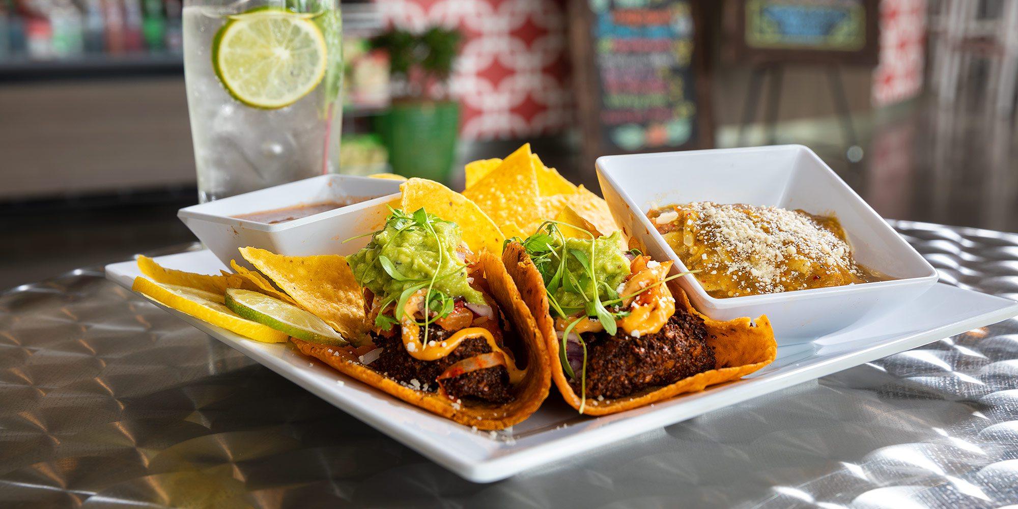 Kimchi falafel tacos at the Wheelhouse Springfield MO