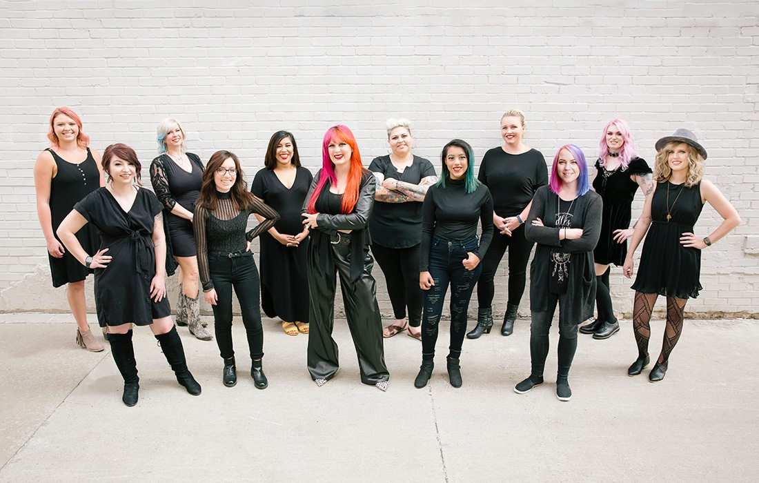 Team members of Inviktus Salon in Springfield and Republic MO