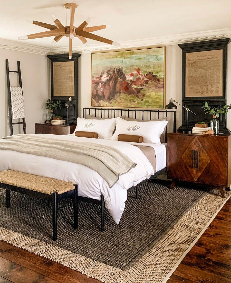 Bed in room that won Best Bedroom in Design Awards 2021