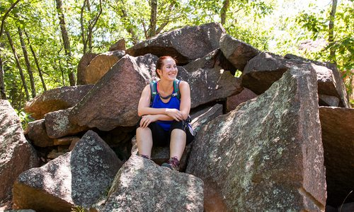 Adrienne Donica exploring the Ozarks with 37 North Expeditions