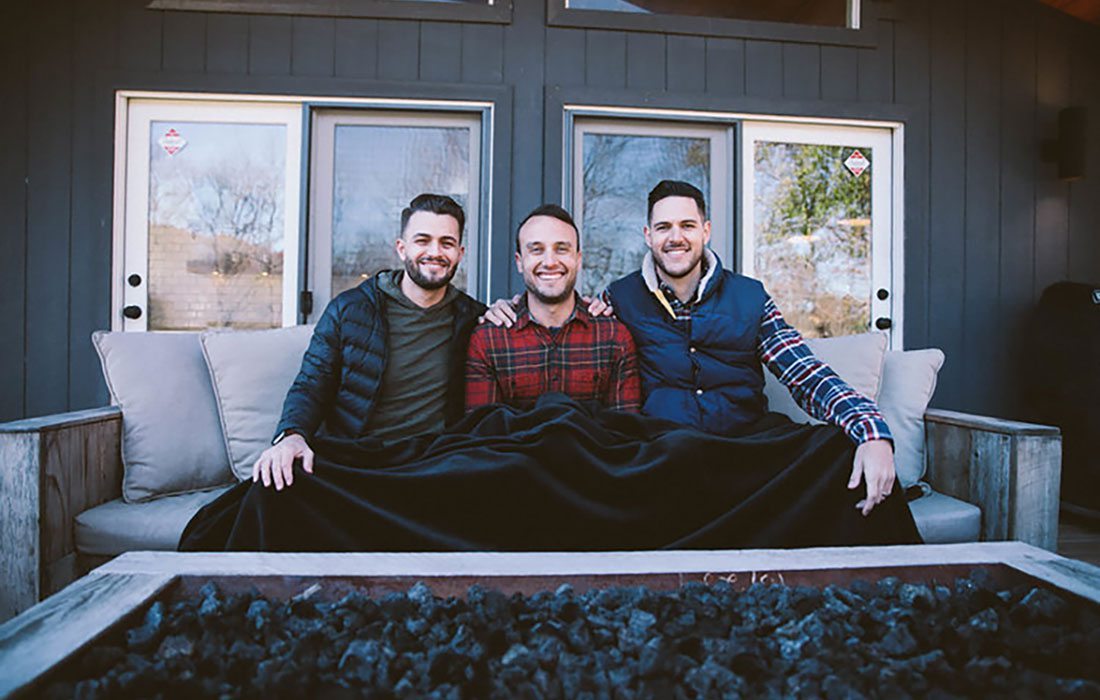 Josh Stewart, Bryan Simpson, and Dane Watts are all partners of Big Blanket Co.