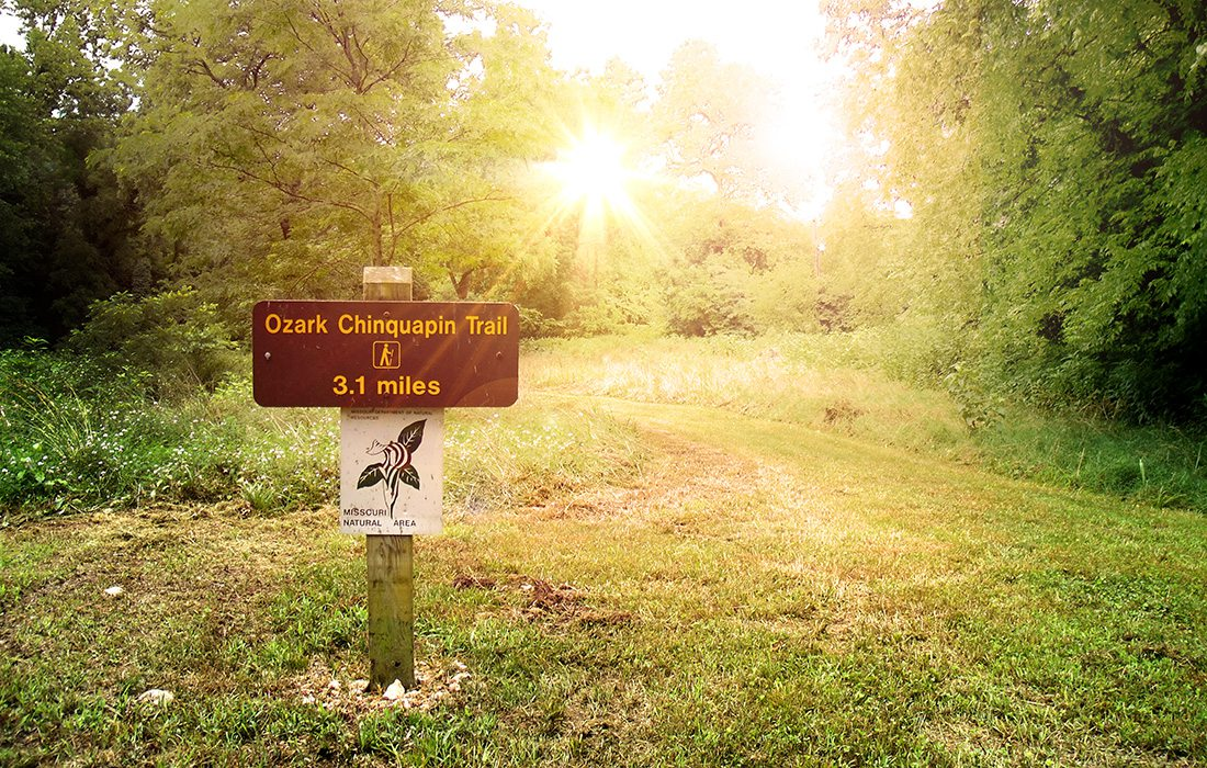Ozark Chinquapin Trail at Big Sugar Creek State Park in Missouri