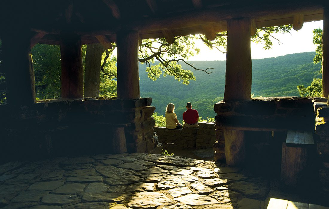 Civilian Conservation Corps Scenic Overlook in Devil's Den State Park in Arkansas