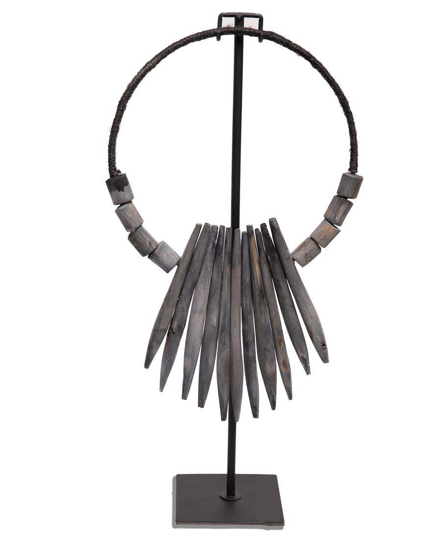 Teak sculpture from Arizaga Home