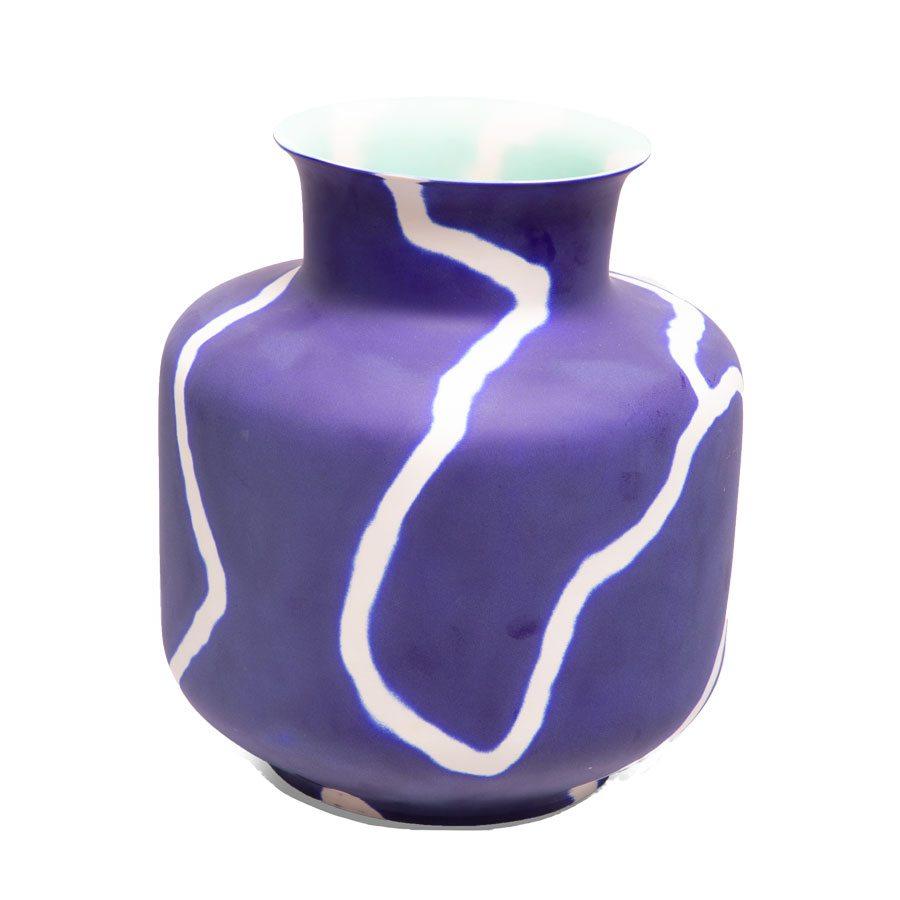 Sandblasted vase from Obelisk Home