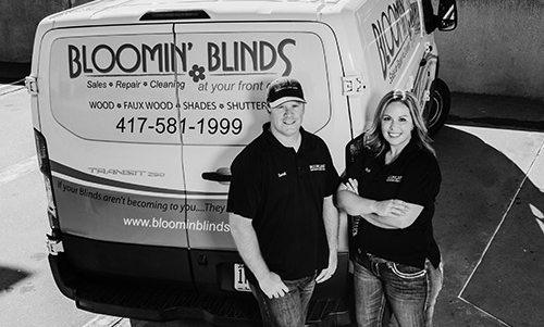 Derek and Nicole Carter of Bloomin Blinds in Springfield MO