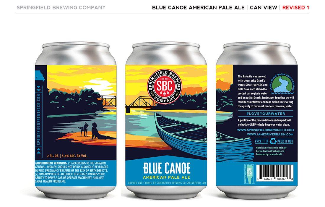 Blue Canoe can