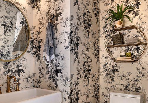 Bold Bathroom Wallpaper