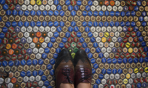 A DIY Bottle Cap Floor