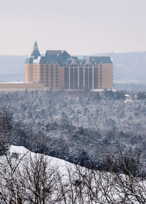 Chateau on the Lake in winter Branson, MO