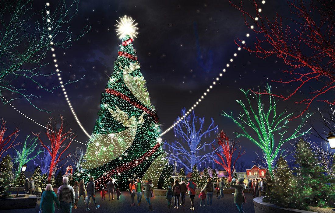 8 Story Christmas tree at Silver Dollar City