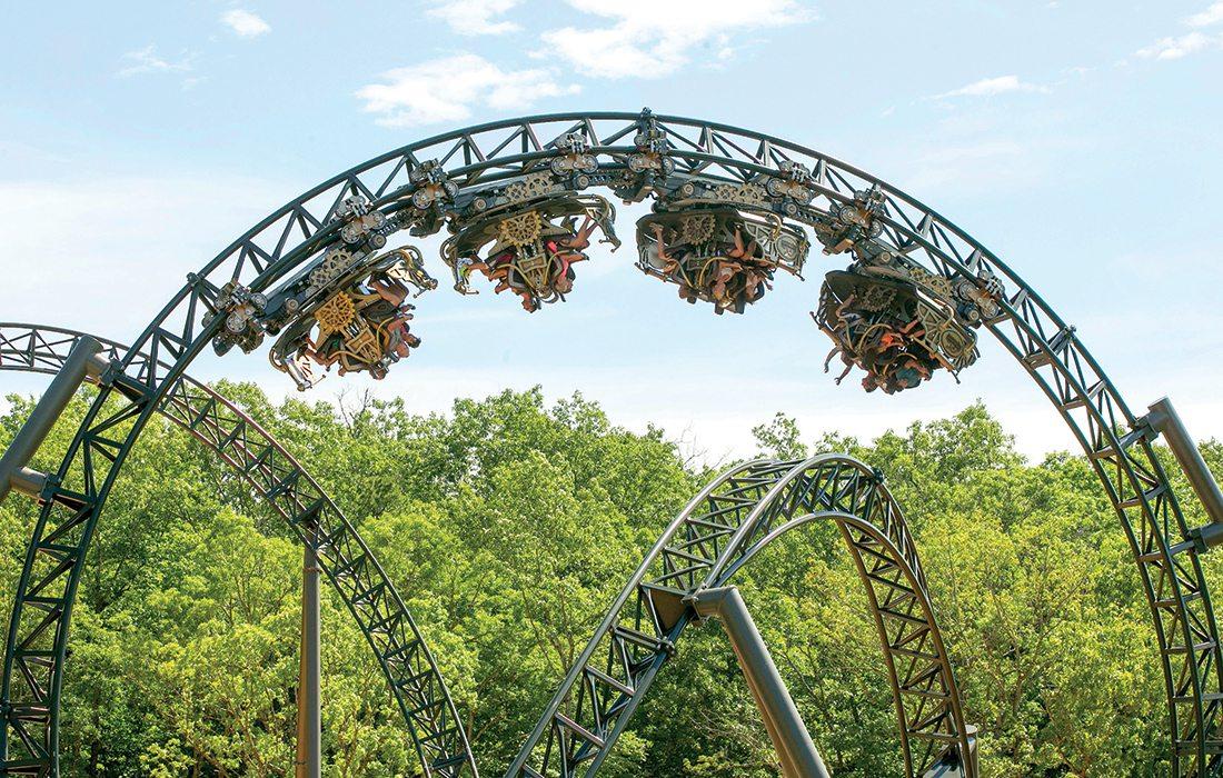 Time Traveler roller coaster at Silver Dollar City Branson MO