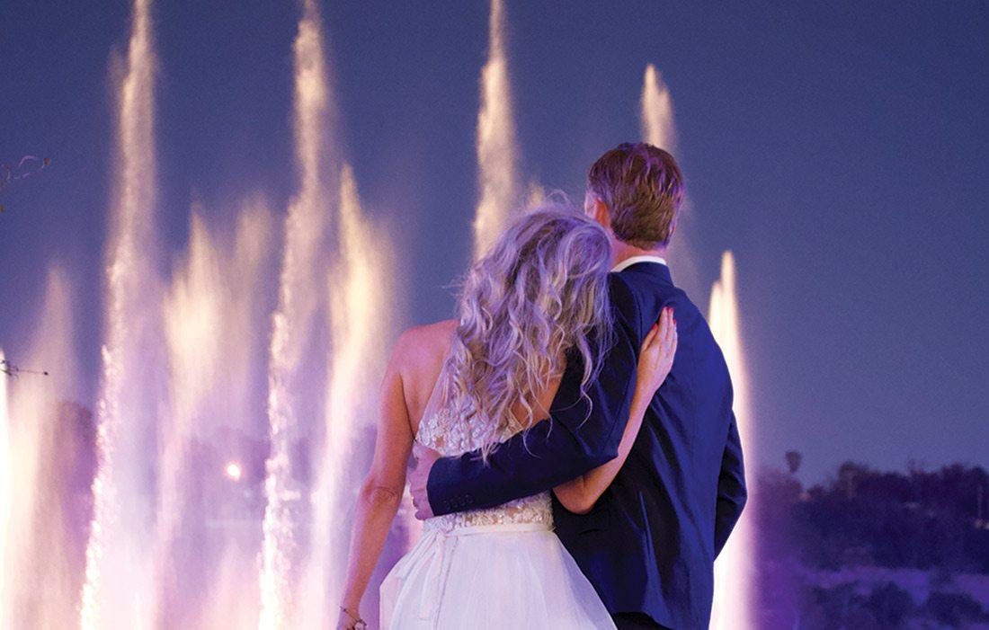 Branson Dream Weddings fountain photo
