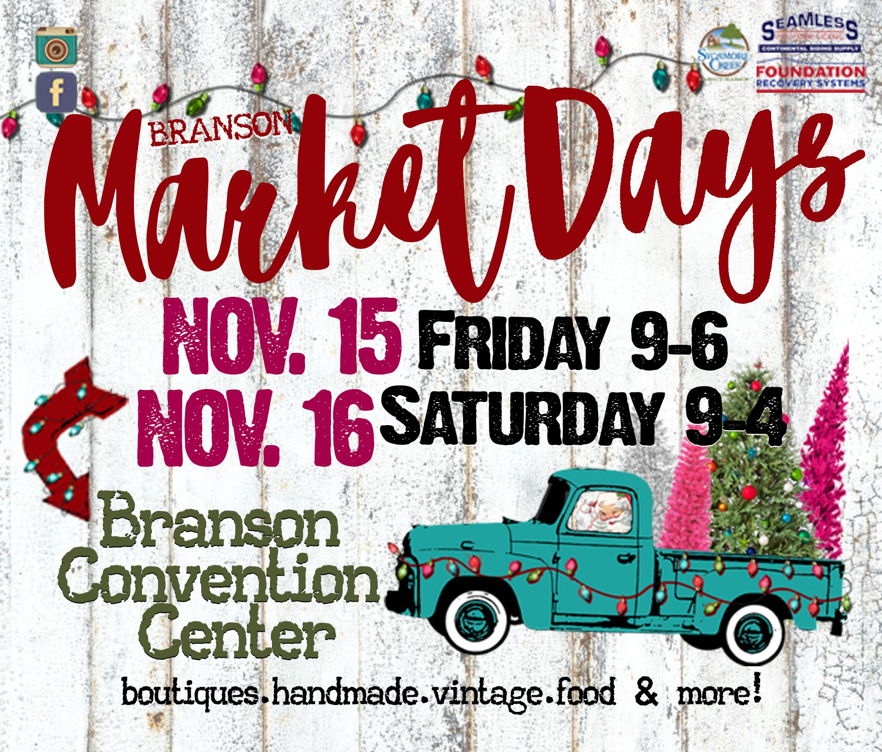 Holiday market in Branson, MO