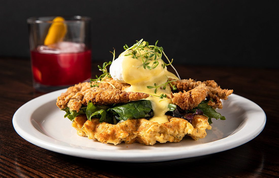 Softshell Crab Benedict from Lindberg's Tavern in Springfield MO
