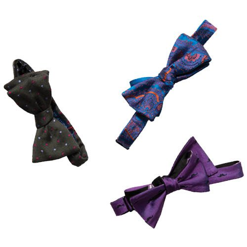 Colorful bow ties, from $39 at Town and County