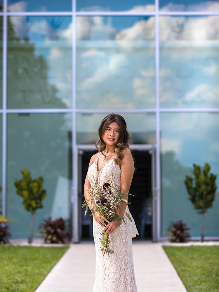 White lace wedding dress at The Dress Springfield MO