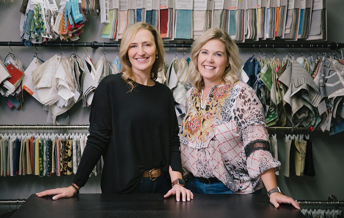 Manda Brandt and Robbyn Bybee of Bridge Upholstery & Drapery in Springfield MO