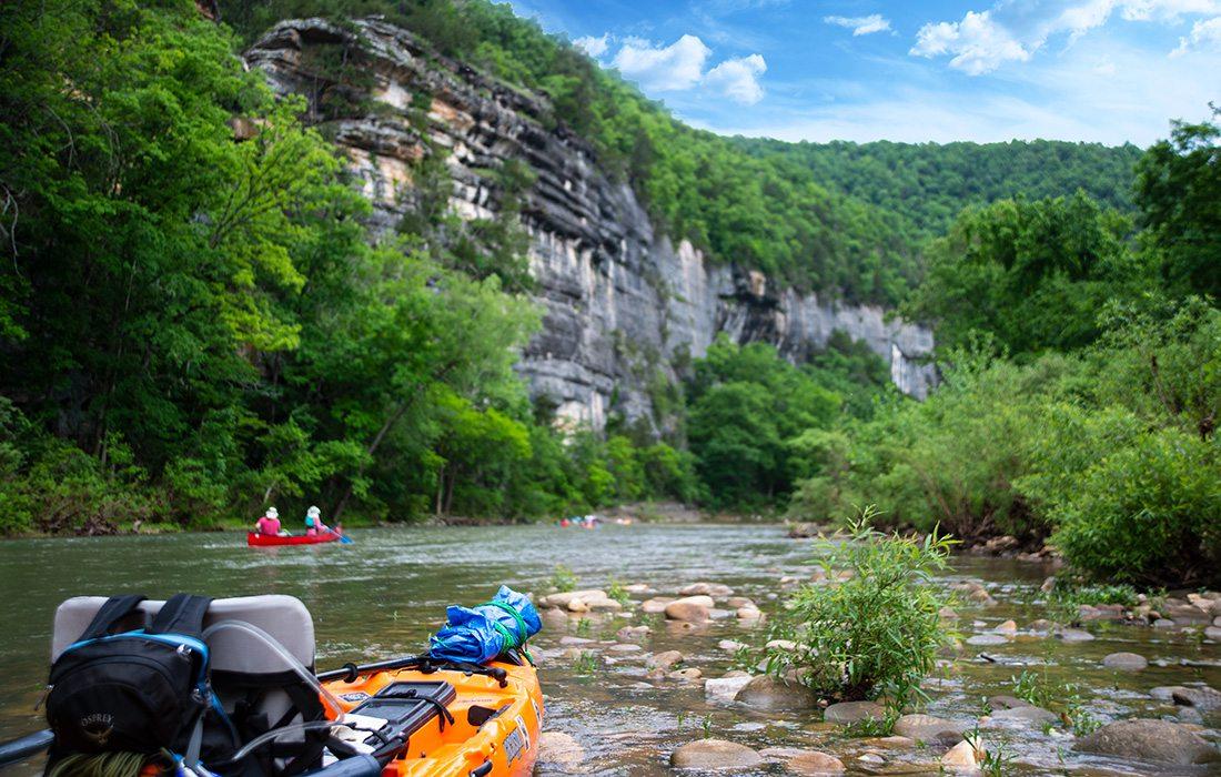 Float trip on the Buffalo River in Arkansas