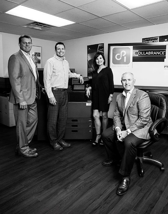 Rob Kassing, Director of Sales; Jesse Watson, Director of Technology Solutions; Heidi Crane, CFO; Erik Crane, President
