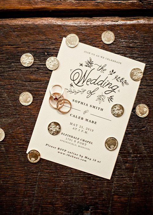 Caleb Mabe and Sophia Smith's wedding invitation