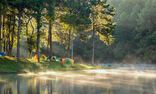 Campsites by water
