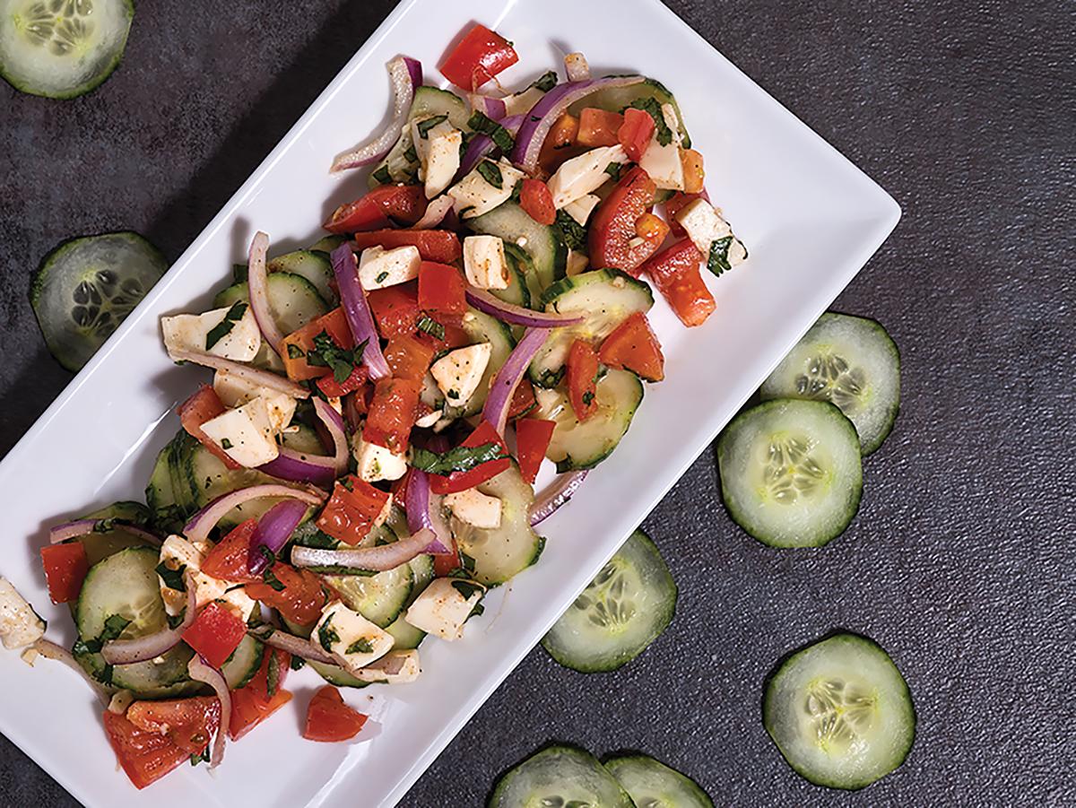 Caprese Gazpacho Salad