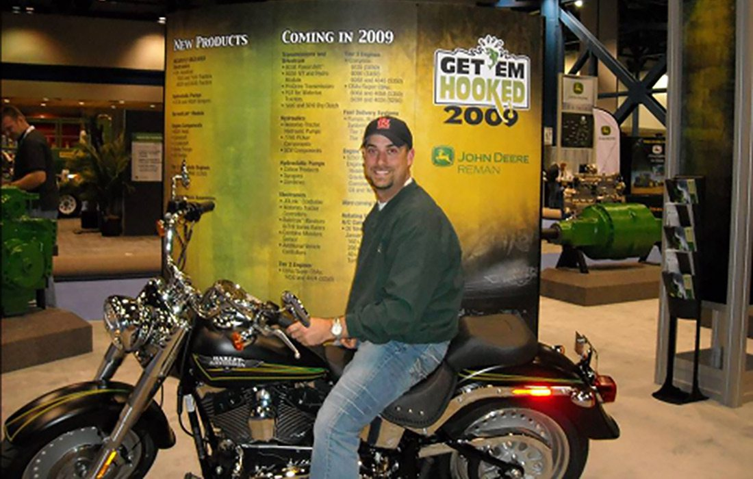 Sutton Berry at a John Deere Ag and Turf Dealer Expo