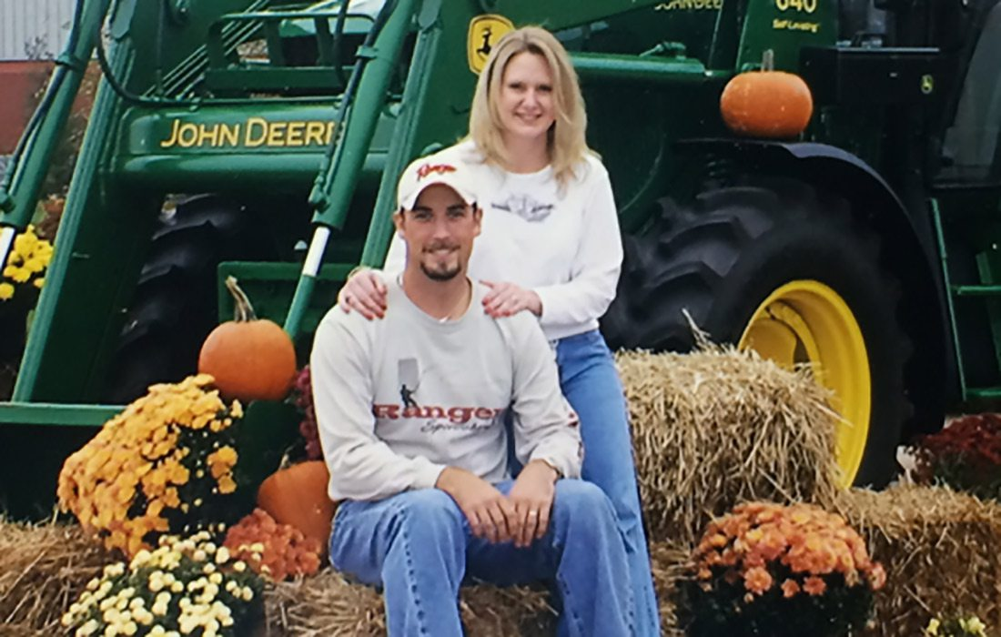 Sutton Berry, with his wife Keri, at a John Deere employee picnic