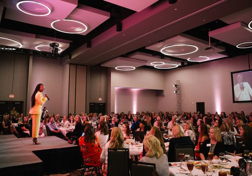 Carmelita Jeter, the fastest woman alive, speaks at Biz 417's 2019 Ladies Who Launch.