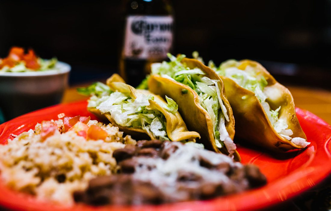 Carne Asada Fried Tacos at Maria's Mexican Restaurant