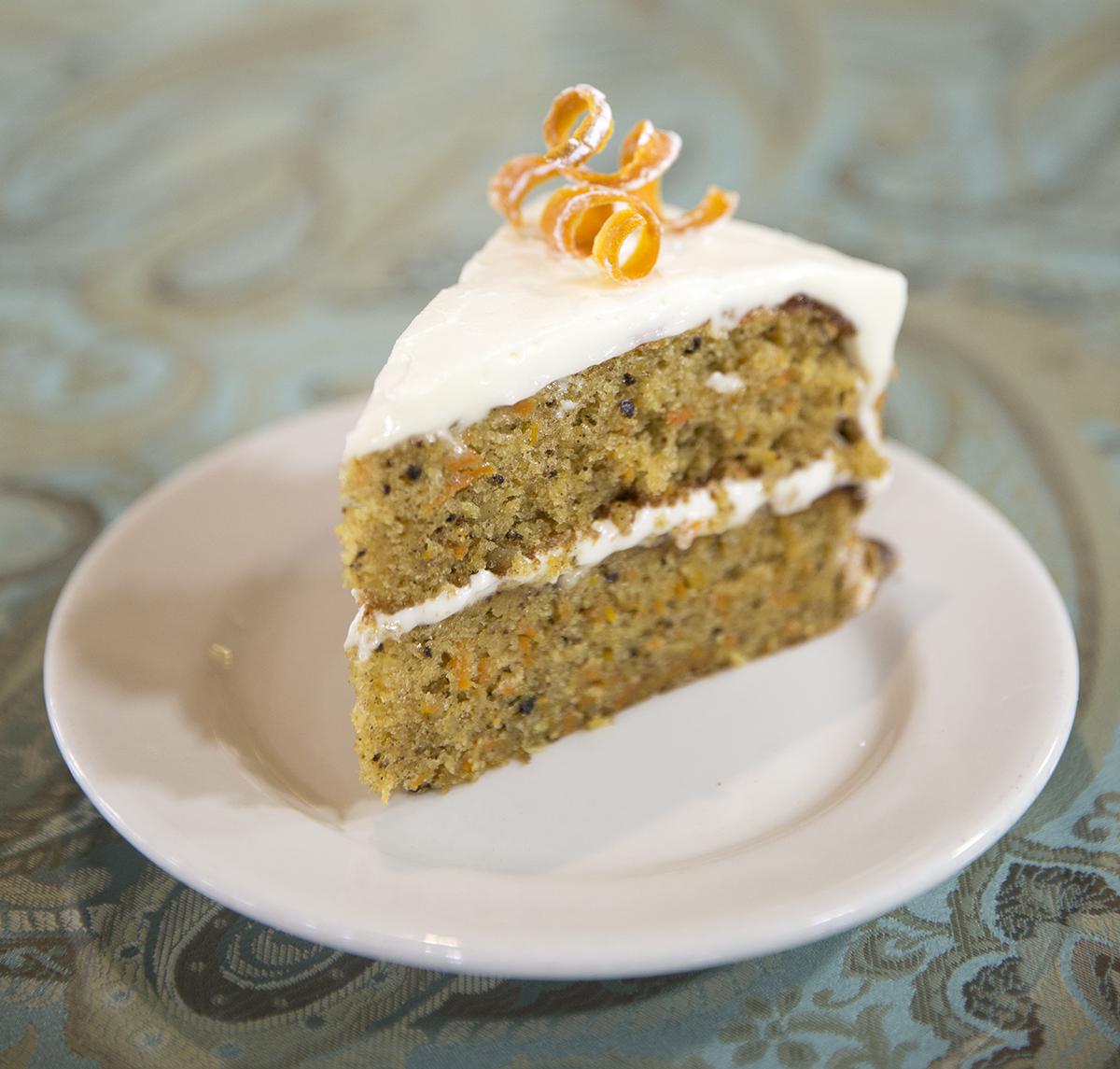 Carrot Cake at Relics Antique Mall's tea room.