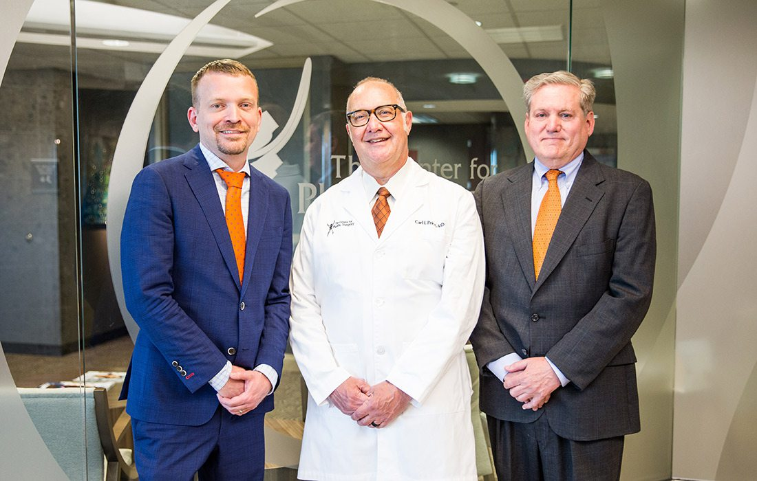 Robert Shaw, MD; Carl Price, MD; Arthur Hawes, MD of The Center for Plastic Surgery in Springfield, MO