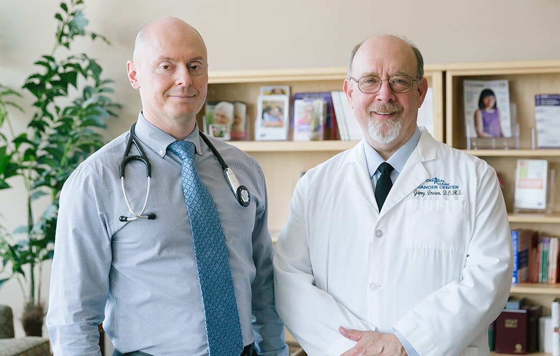 Dr. Leo Shunyakov and Dr. Garry Brown of Central Care Cancer Center