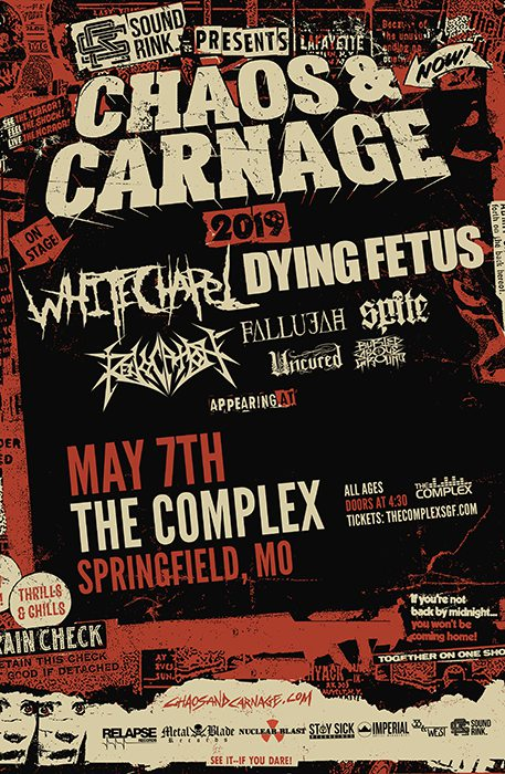 Chaos and Carnage Tour 2019 at the Complex