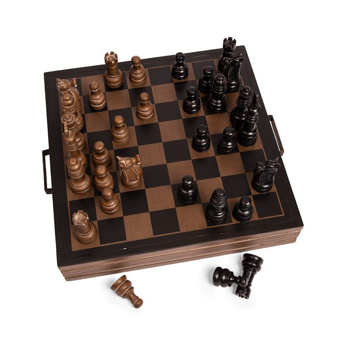 Oversized chess set.