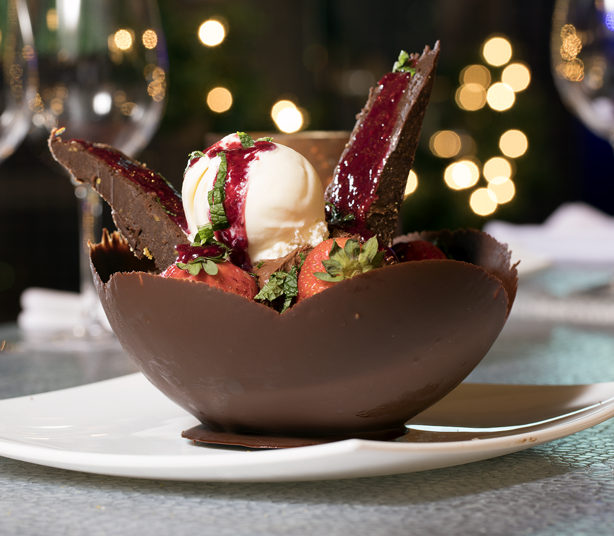 Chocolate Bowl by Chef Mike Jalili.