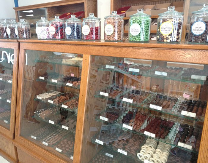 Bon Bon's Candy House Springfield, MO chocolate cabinets