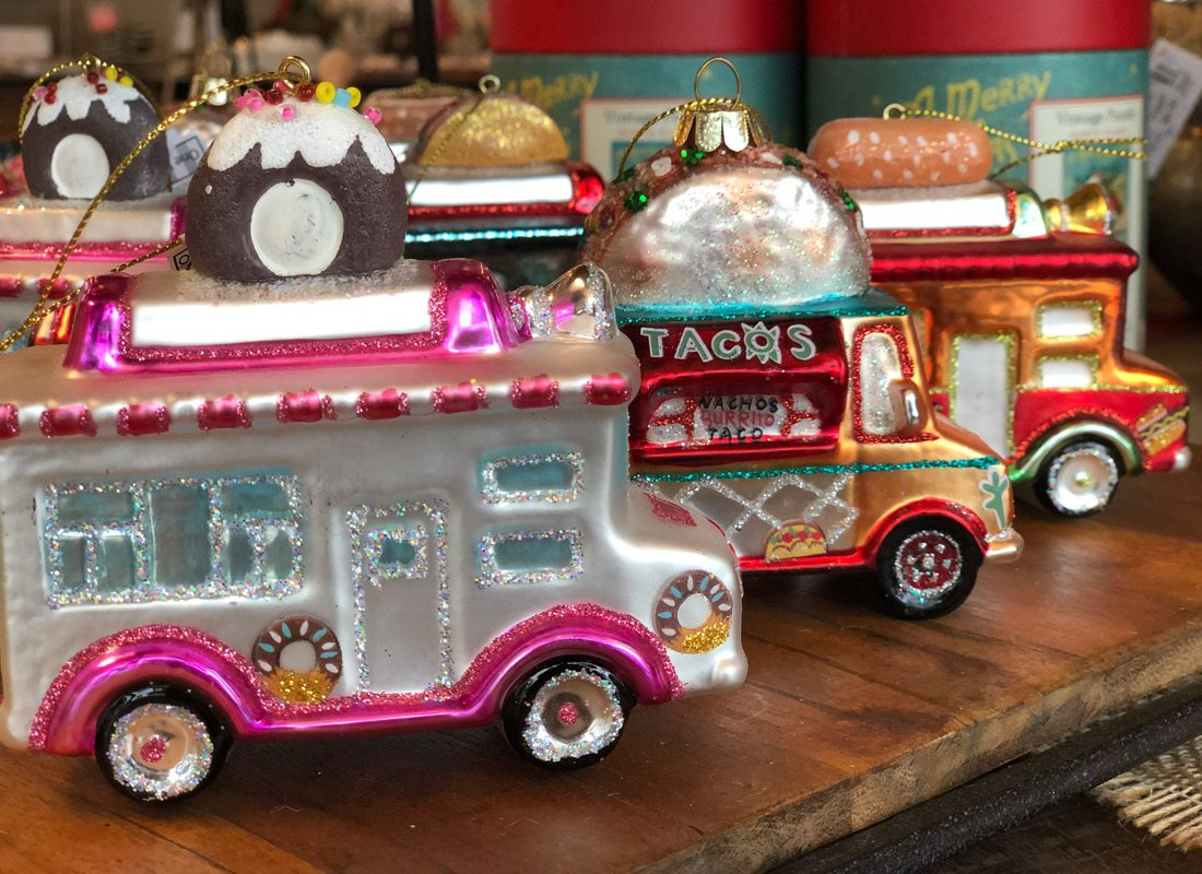 Food truck Christmas ornaments