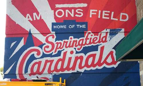 Hammons Field Cardinals mural by Chroma