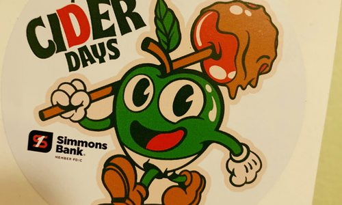Fried Design's Cider Days festival logo sticker