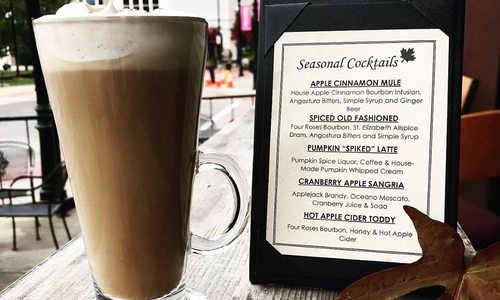 Civil Kitchen's Pumpkin Spiked Latte and fall cocktail menu