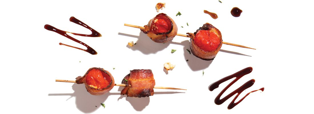 Bacon Wrapped Peppadew Peppers from Jimm's Steakhouse in Springfield MO