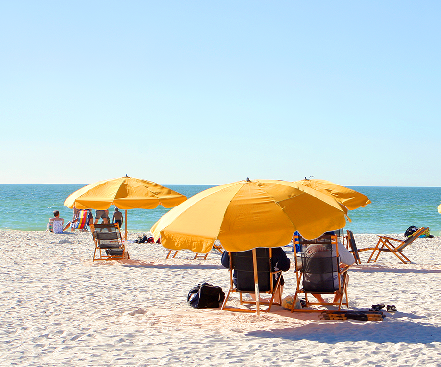 Relax on the beach during your Clearwater vacation.