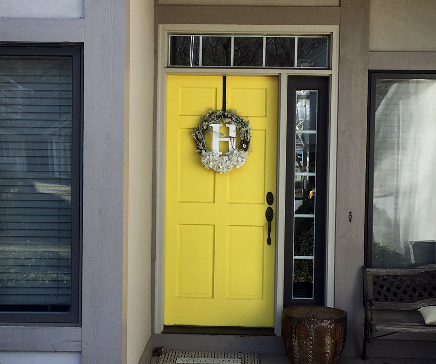 Add a Bold Paint Color to Your Front Door