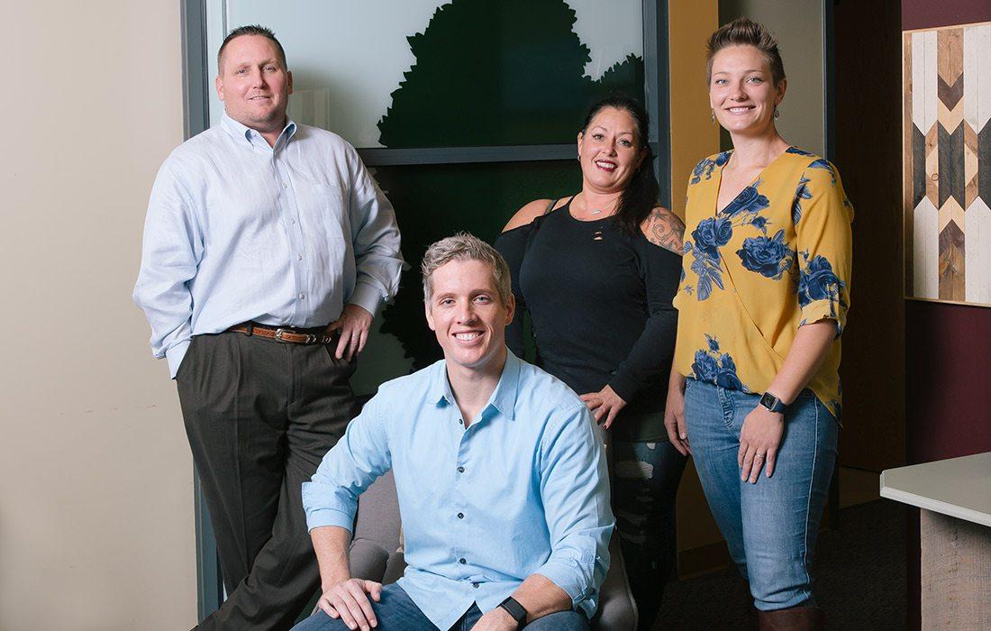 Dr. Tex Gaskins, Natalie Mayfield, Samantha Goodall, Dr. Luke Van Kirk of Command Family Medicine in Springfield MO