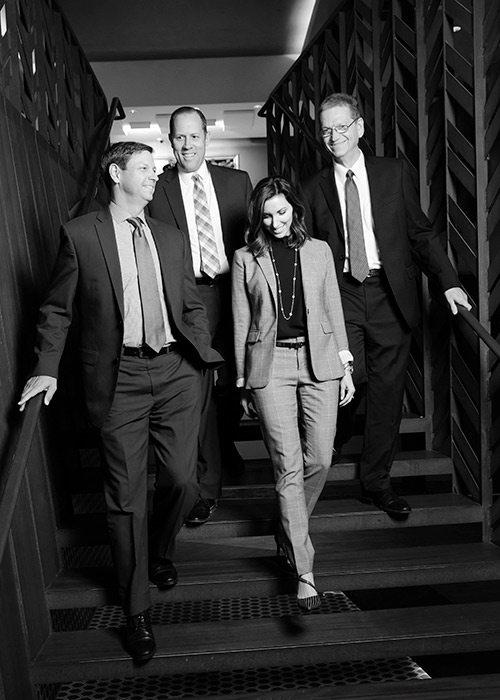Brent Baldwin, Doug Neff, Lacy Martin, Keith Noble of Commerce Bank