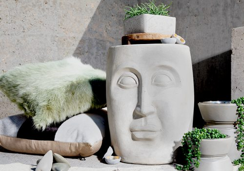 Concrete Home Decor from Cloud 9 Designs, Jamie Young, Noir Furniture, 5908 Home, Harrison House Market, Obelisk Home